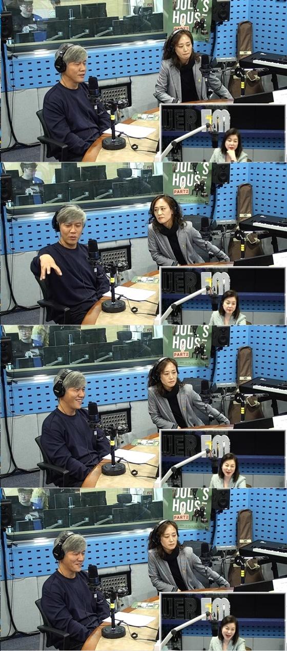 박호산과 우미화./사진=SBS 파워FM '최화정의 파워타임' 보이는 라디오 방송화면 캡처