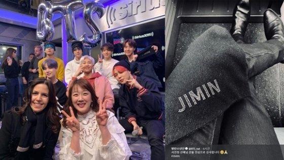 /사진=서민정 인스타그램, 방탄소년단 공식 트위터