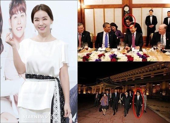 박선영과 김일범./사진=스타뉴스, 청와대 홈페이지 캡처