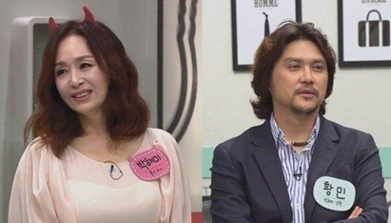 뮤지컬 배우 박해미(왼쪽), 황민 /사진제공=채널A