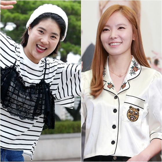 강유미(왼쪽)와 신보라 /사진=스타뉴스