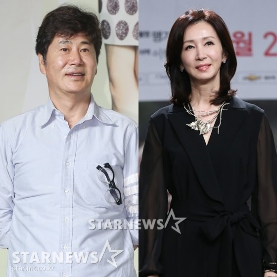 유동근 전인화 부부./사진=스타뉴스