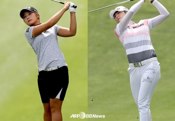 이정은6(좌)와 박성현. /AFPBBNews=뉴스1