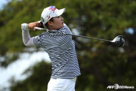 LPGA 투어 퓨어 실크 챔피언십 3라운드에서 공동 14위에 자리한 강혜지. /AFPBBNews=뉴스1