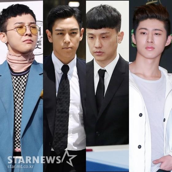 (왼쪽부터) 지드래곤, 탑, 쿠시, 비아이 /사진=스타뉴스