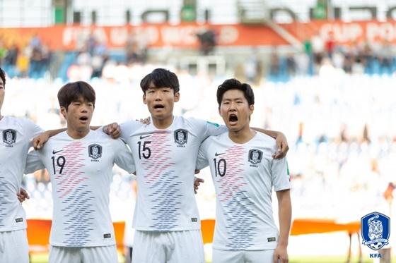 이강인(맨 오른쪽). / 사진=대한축구협회 제공