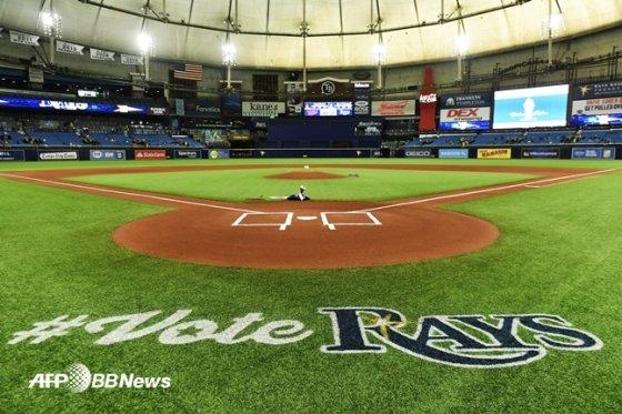 탬파베이의 홈구장 트로피카나필드.  /AFPBBNews=뉴스1