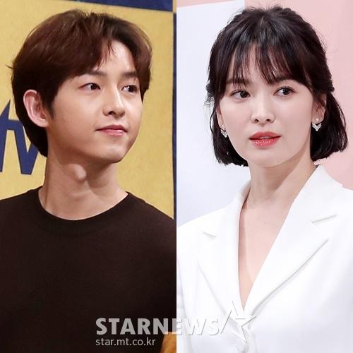 송중기(왼쪽)와 송혜교 /사진=스타뉴스