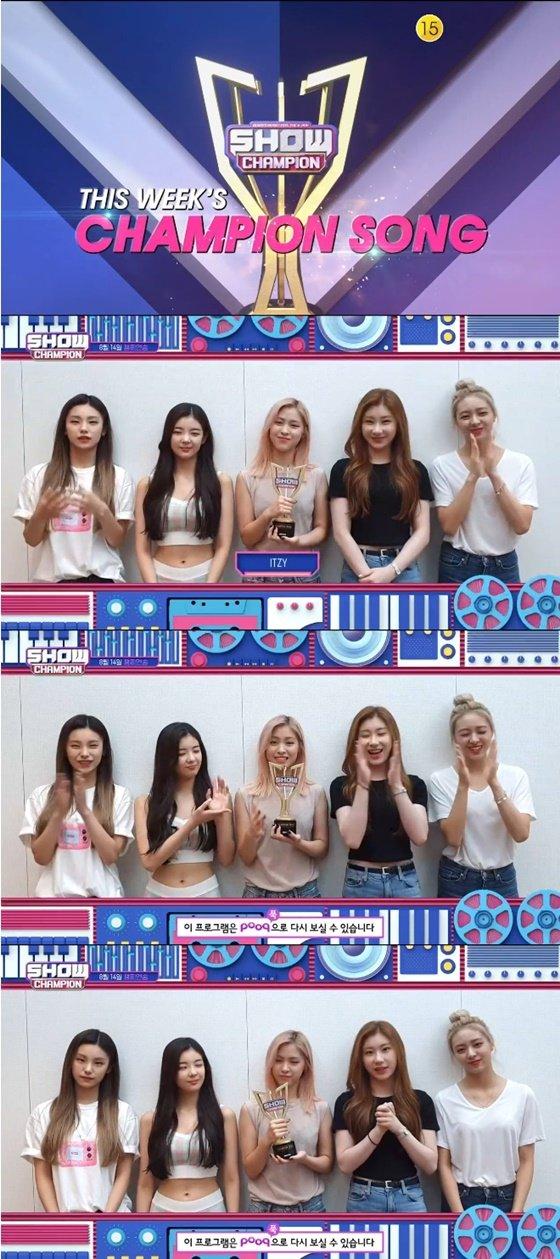 걸그룹 ITZY /사진=MBC 뮤직 \'쇼! 챔피언\' 방송화면 캡처