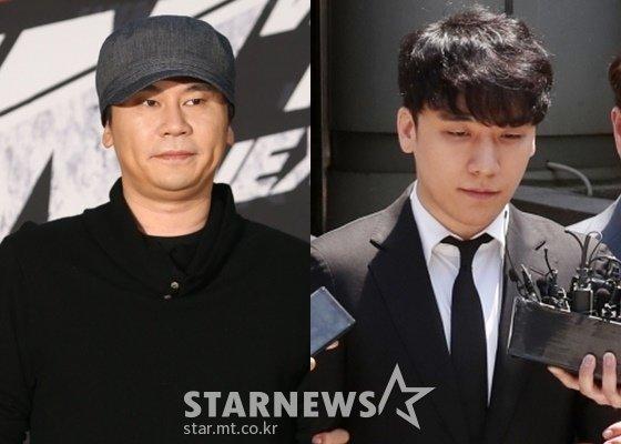 양현석 YG엔터테인먼트 전 대표(왼쪽), 가수 승리 /사진=스타뉴스