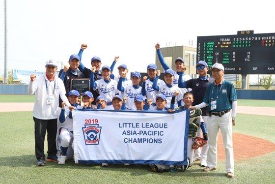한국 리틀야구 대표팀. /사진=한국 리틀야구연맹 홈페이지 캡처