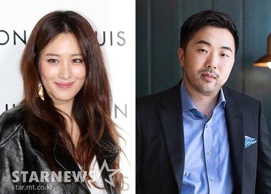 배우 수현(왼쪽), 기업인 차민근 /사진=김휘선 기자, 차민근 인스타그램