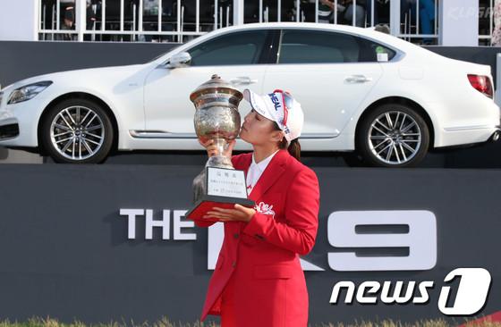 제33회 한국여자오픈 골프선수권대회에서 우승한 이다연. /사진=뉴스1(KLPGA 제공)