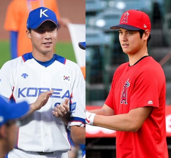 장재영(좌)과 오타니. /AFPBBNews=뉴스1