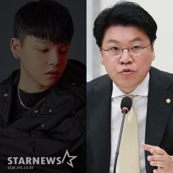 (왼쪽부터) 노엘, 장제원 의원 /사진=인디고뮤직, 스타뉴스