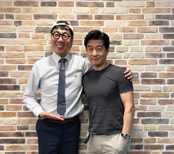 김영철(왼쪽)과 김상중./사진='김영철의 파워FM' 인스타그램