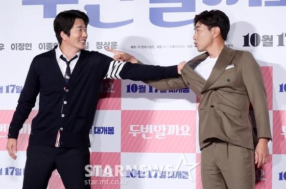 배우 권상우(왼쪽), 이종혁 /사진=김휘선 기자