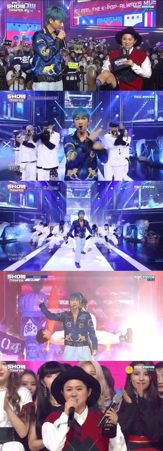 /사진=MBC every1 가요순위 프로그램 \'쇼챔피언\' 방송화면 캡쳐.