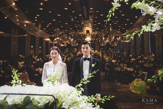 강남 이상화 결혼식/사진=카마스튜디오