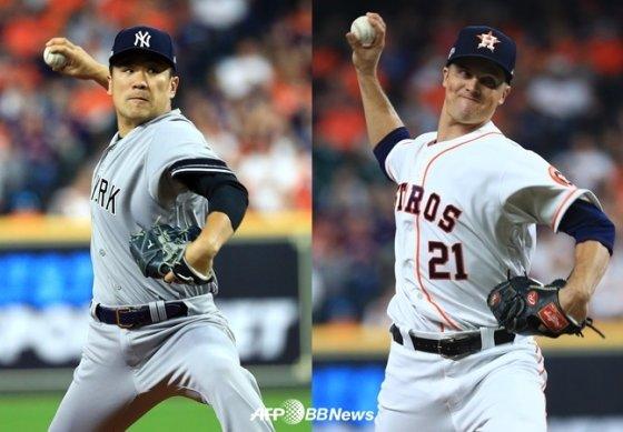 뉴욕 양키스 다나카 마사히로(좌)와 휴스턴 애스트로스 잭 그레인키. /AFPBBNews=뉴스1