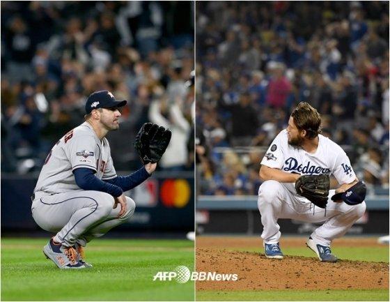 벌랜더(좌), 커쇼(우). /AFPBBNews=뉴스1