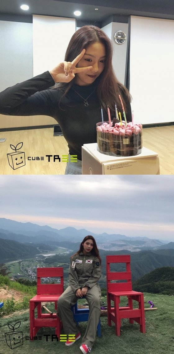 /사진=큐브 신인개발팀 인스타그램, 9월 16일(위) 8월10일(아래)