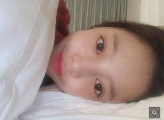 구하라, 여신美 침대 셀카 공개 ''잘자''