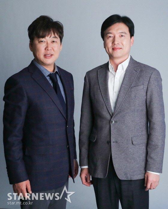 (왼쪽부터) 가수 변진섭, 시인 강원석 /사진=이기범 기자