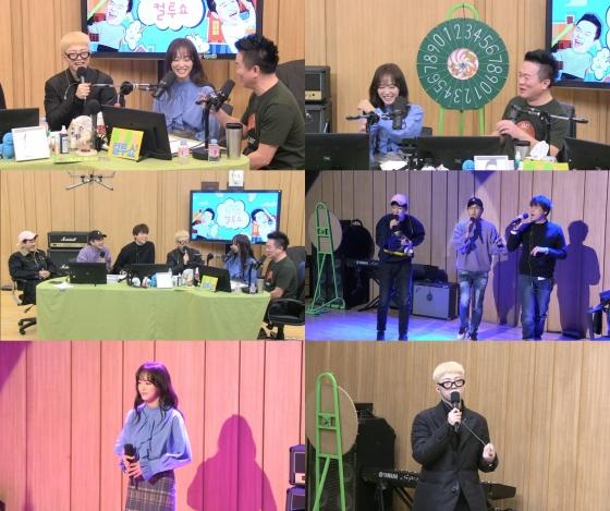 /사진=SBS 파워FM '두시탈출 컬투쇼' 보이는 라디오 캡처 (왼쪽부터 스윗소로우 기리보이 세정 김태균)