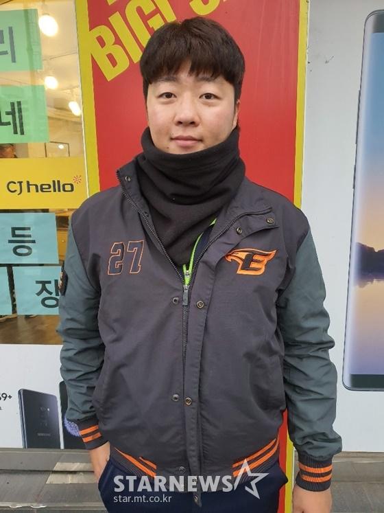 7일에 만난 한화 김범수. /사진=이원희 기자