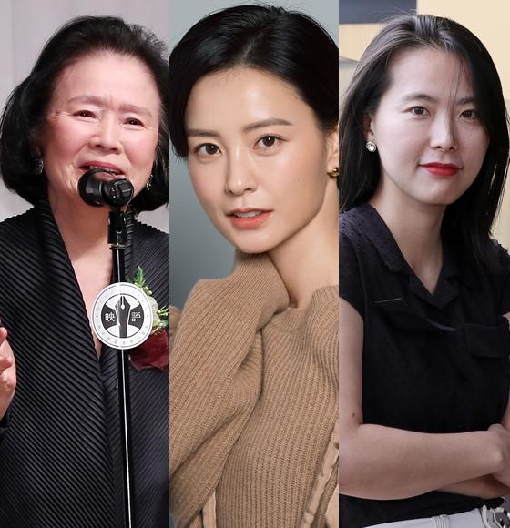 윤정희,정유미,김보라 감독 등이 2019 올해의 여성영화인상을 받는다.