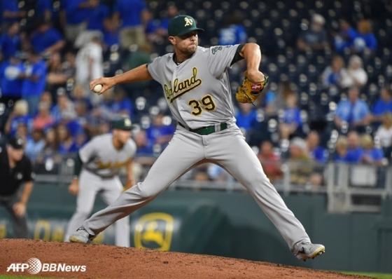 다저스가 1년 1000만 달러에 영입한 블레이크 트레이넨. /AFPBBNews=뉴스1