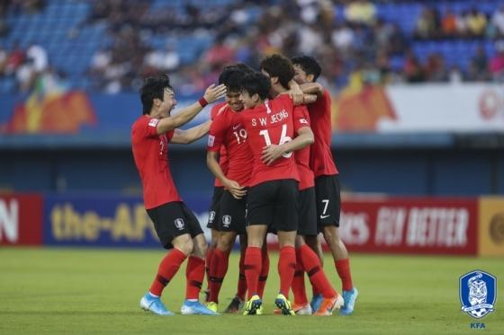 한국 U-23 축구 대표팀. /사진=대한축구협회 제공