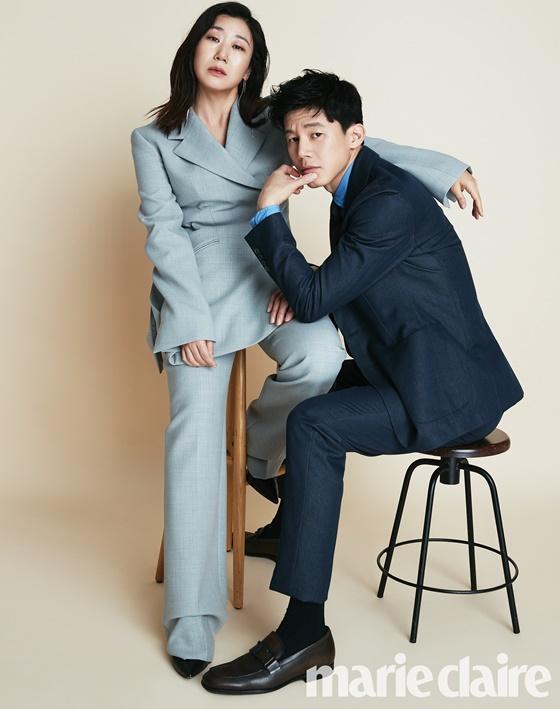 배우 라미란, 김무열 /사진제공=마리끌레르
