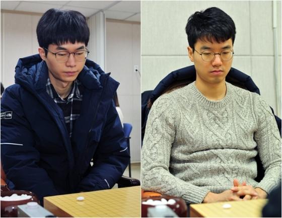 이동훈(왼쪽)과 안성준. /사진=한국기원 제공
