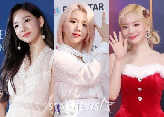트와이스 나연,채영,다현(왼쪽부터)/사진=스타뉴스