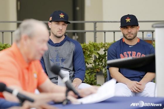 알렉스 브레그먼(왼쪽)과 호세 알투베. /AFPBBNews=뉴스1