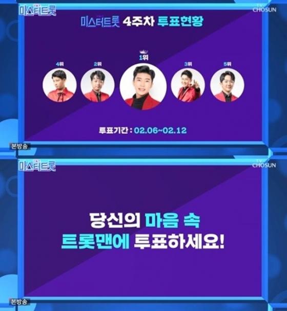 /사진=TV조선 예능프로그램 '미스터트롯' 방송화면 캡처