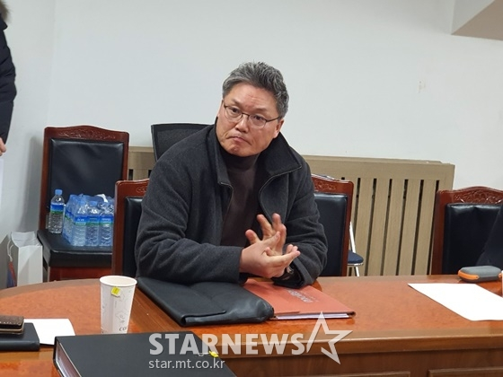 18일 경기력향상위원회에 참석한 이문규 감독. /사진=이원희 기자