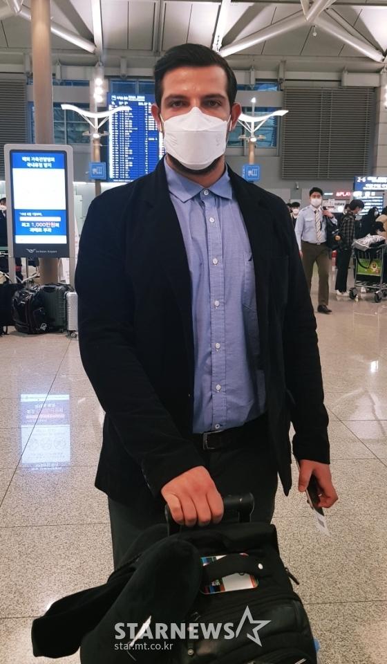 26일 출국에 앞서 스타뉴스와 만난 LG 라모스. /사진=김우종 기자