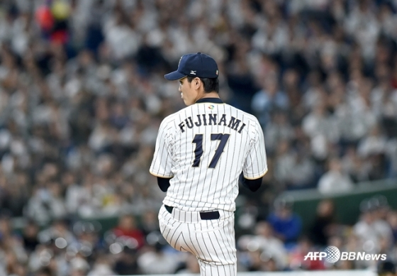 2017 월드 베이스볼 클래식에 나섰던 후지나미. /AFPBBNews=뉴스1
