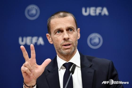 알렉산데르 체페린 UEFA 회장. /AFPBBNews=뉴스1