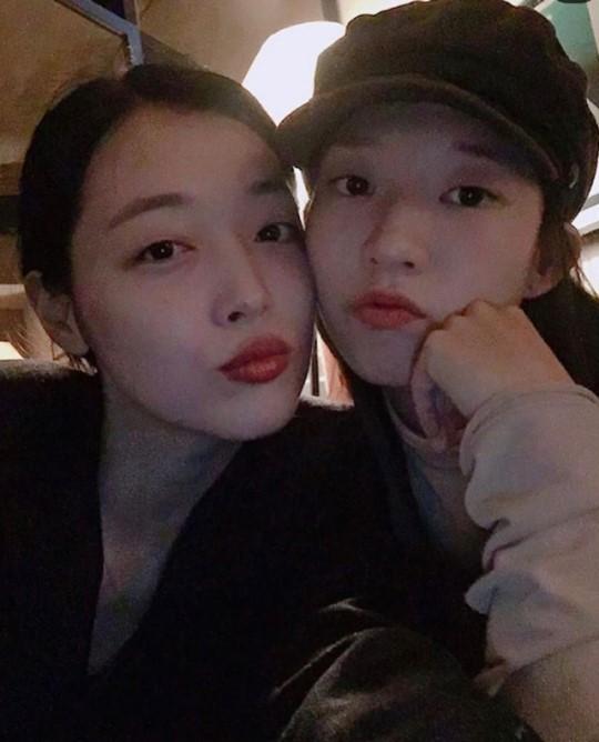 고 설리(왼쪽)와 김선아 /사진=김선아 인스타그램