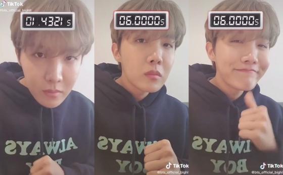 방탄소년단(BTS) 제이홉 /사진=빅히트엔터테인먼트 공식 틱톡 영상 캡쳐