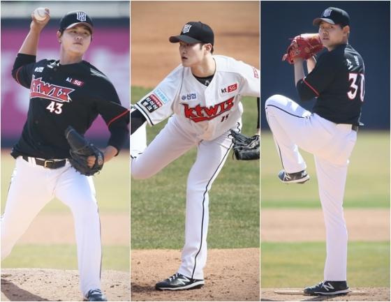 왼쪽부터 김민, 배제성, 소형준. /사진=kt wiz