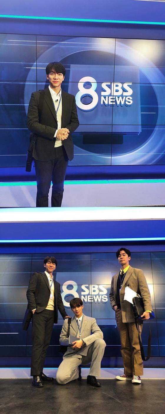 '집사부일체' 이승기, 차은우X신성록과 'SBS 8뉴스' 인증샷 - NO.1 ...