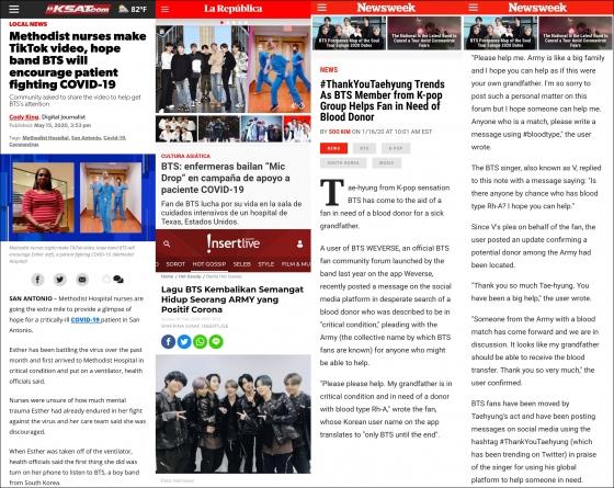 방탄소년단의 선한 영향력, '아미'의 건강한 팬문화..전세계에 희망과 감동