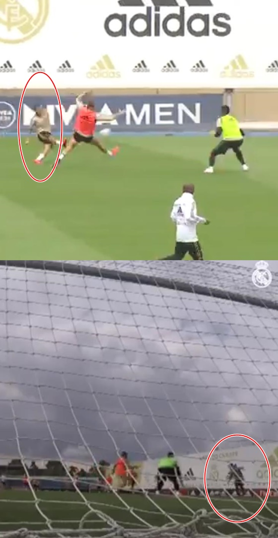 에당 아자르(빨간원)의 골 장면. /사진=레알 마드리드 트위터 캡처