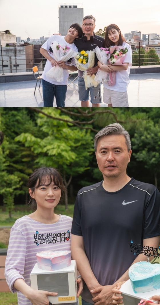 강하늘X천우희X강소라 '비와 당신의 이야기' 3개월 촬영 마무리