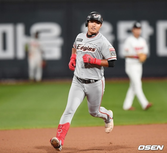 14일 수원 KT전에서 데뷔 첫 안타-첫 홈런을 날린 한화의 김지수. /사진=OSEN
